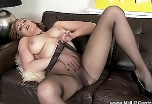 Blonde big tits milf toying involving pantyhose