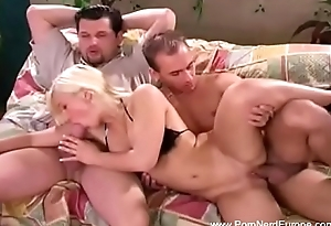Concupiscent Blonde Three-some From Romania
