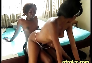 African lesbian babes pleasing each other