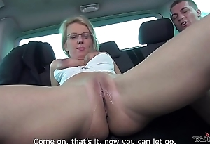 Takevan Pussy cum tight spot for glassed blonde teacher at lunch breat