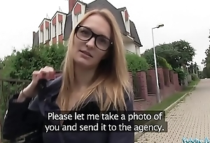 Public Agent Belle Claire has slay rub elbows with best tits I'_ve ever paid for