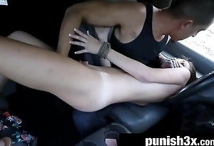 Helpless Teen Renee Roulette Fucked For A Ride