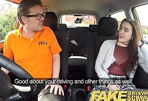 Fake Driving Trainer New learners tight pussy stretched by instructors cock
