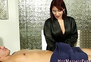 Latina masseuse sucks