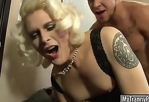 Blonde TS Isabella Sorrenti anal pounded