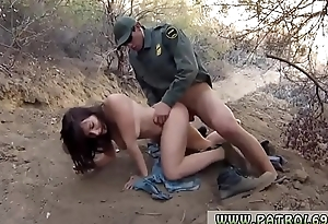 Fake police officer anal and inmate Mexican border patrol agent has