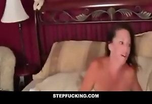 Drunk step mom fucked by sprog while sleeping- STEPFUCKING.COM