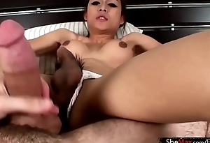 Leaked FULL video of Teen ladyboy eating and wanking my dick