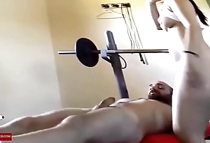 Pamela fucked on the weight bench. RAF358