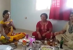 Village Aunties enjoying party with wine than having it away with her husbands... HD