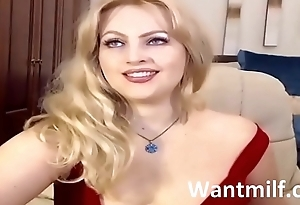 Gorgeous amateur sexy beautiful hot MILF Red dress home Porn on Wantmilf.club