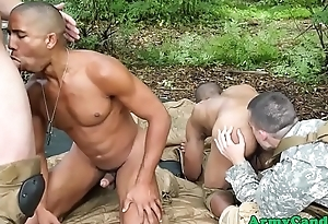 Uniformed military hunks plowing ass unserviceable