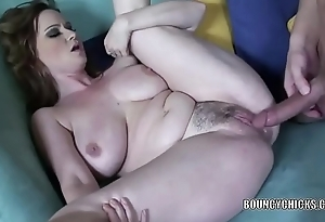 Curvy MILF Violet Addamson takes a dick in will not hear of tight twat