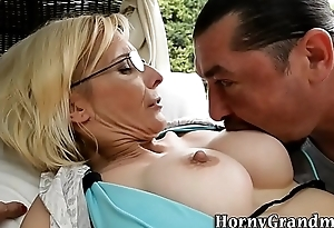 Ancient cougar ass creampied
