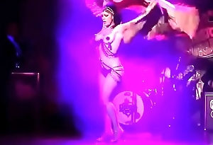 Dannie Diesel aka Danielle Colby performs with Bustout Burlesque New Orleans