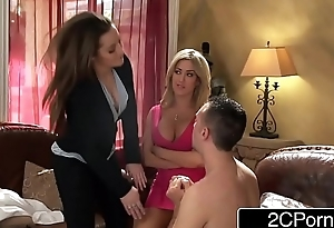 Rich Wall Street Whore Dani Daniels &amp_ Her GF Capri Cavalli Fuck Their Butler