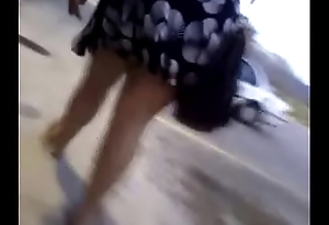 Melanie bend over upskirt with parking lot