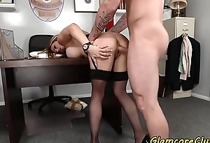 Busty police explicit spanked and pussy banged