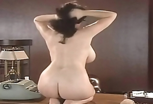 Lorna Morgan Strips Her Lingerie And Poses Mainly The Desk