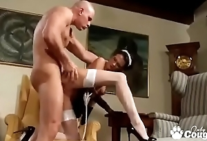 Sexy Maid Naomi Montana Drains A Hard Dick