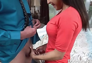 Older Man Drills Gorgeous Stepdaughter