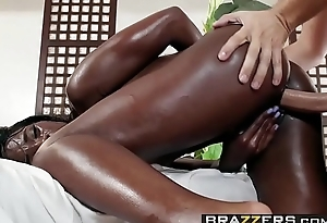 Brazzers - Dirty Masseur - Slip And Slide scene starring Ana Foxxx and Keiran Lee