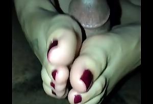Called My College Friend Over Just For Footjob