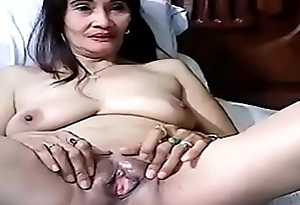 Horny Filipina playing with herself on webcam