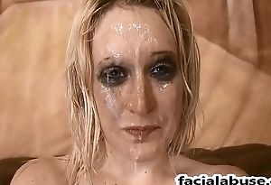 Hardcore face fucking and DP of first timer Kiki Parker