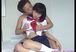 Sweet Yoshizawa Yoshino gets hairy pussy pounded in different poses
